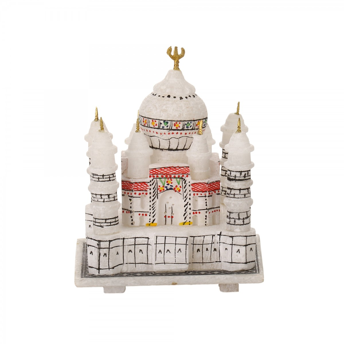 White Marble Taj Mahal Replica | Marble-inlay-art