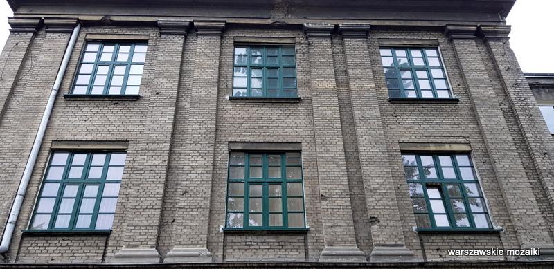 Warszawa Warsaw Powązkowska Państwowe Wytwórnie Uzbrojenia Instytut Mechaniki Precyzyjnej szara cegła architektura