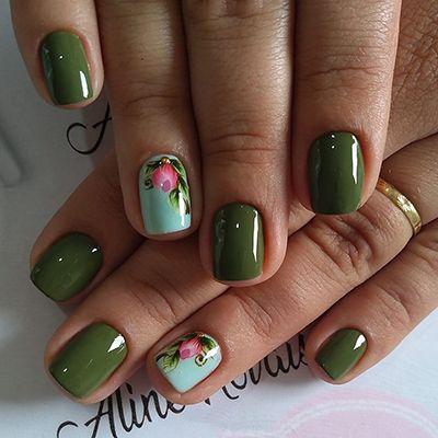 unhas decoradas verdes 10