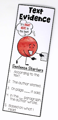 These free text evidence bookmarks remind students that some answers are explicitly stated, and some answers must be inferred. This blog post includes free printables so that you can replicate the anchor chart!