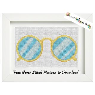 cross stitch steam punk spectacles