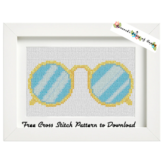 cross stitch steampunk pince nez.