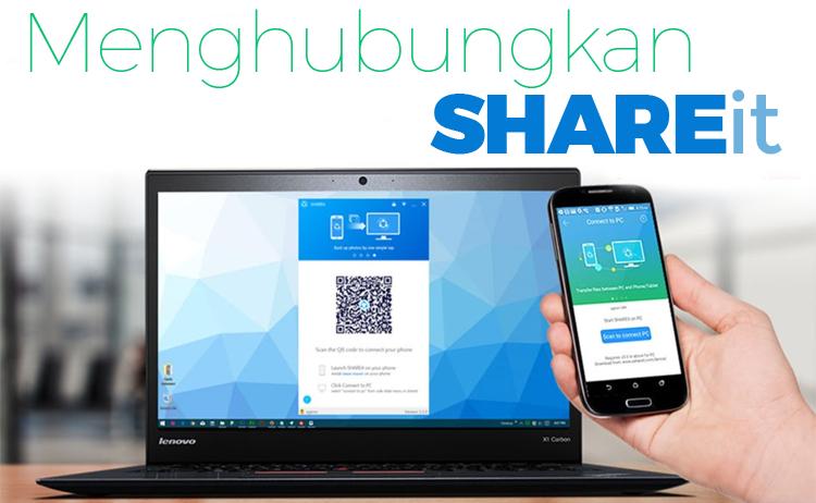cara menghubungkan/mengirim file SHAREit dari HP ke PC/laptop