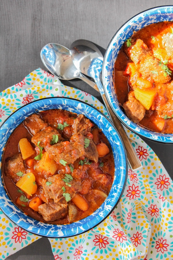 This hearty and delicious Chuckwagon Beef Stew is filled with chunks of tender beef, potatoes, and carrots and has a touch of southwestern flare!