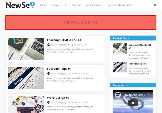 Template Blogspot New Seo