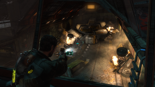 Gun customisation and firing rounds in the game Dead Space