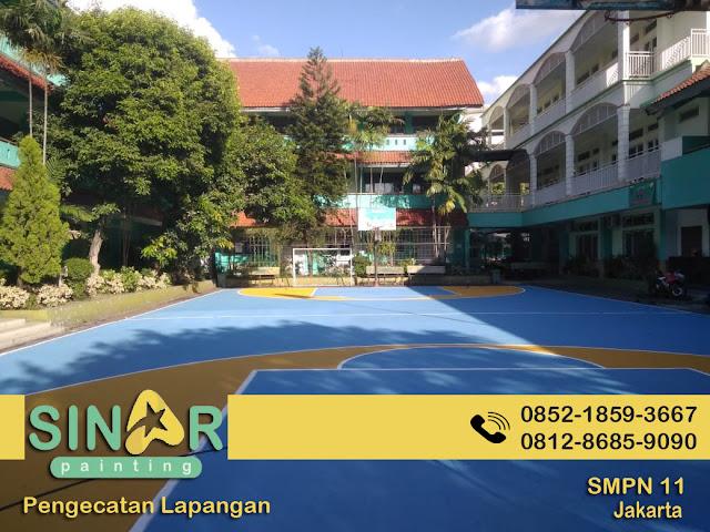 Pengecatan Lapangan SMPN 11