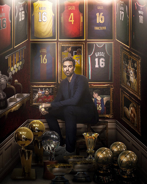 Honoring 2-time NBA champion Pau Gasol...who officially announced his retirement from the league on October 5, 2021.