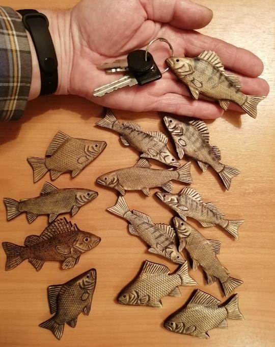брелок для ключей в подарок рыбаку