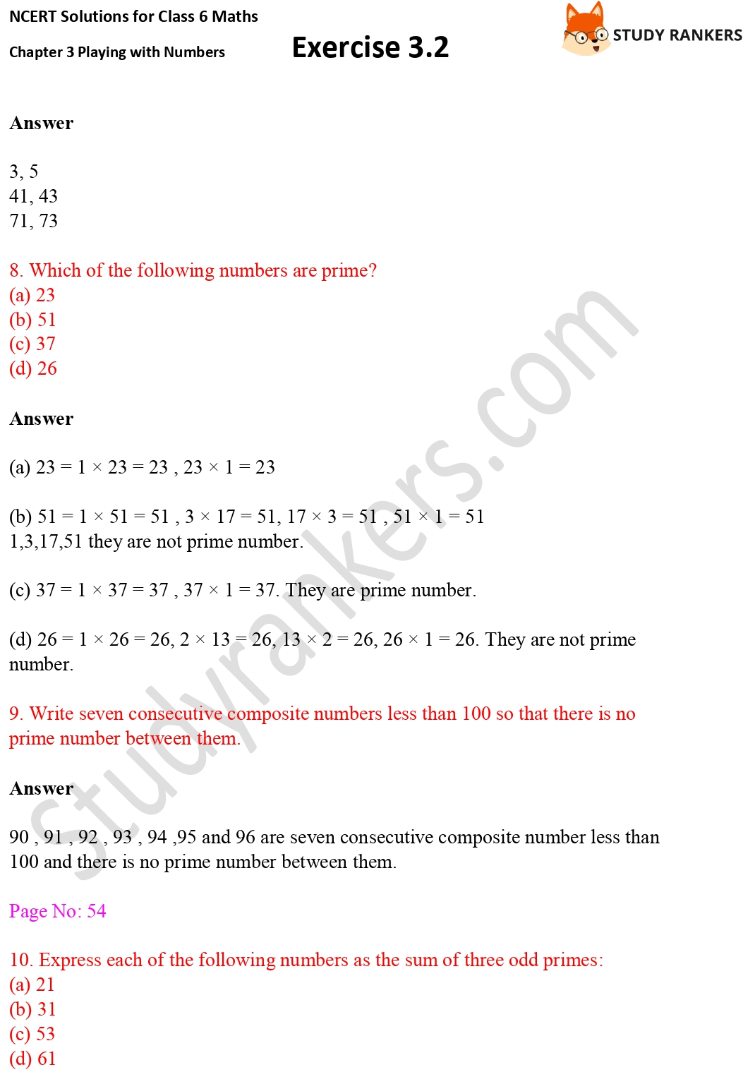 NCERT Solutions for Class 6 Maths Chapter 3 Playing with Numbers Exercise 3.2 Part 3