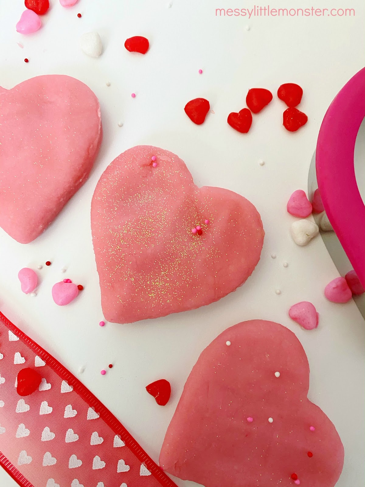Valentine's playdough recipe