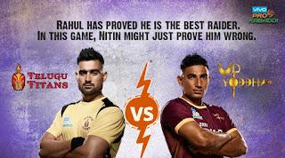 Telugu Titans VS U.P.Yoddha