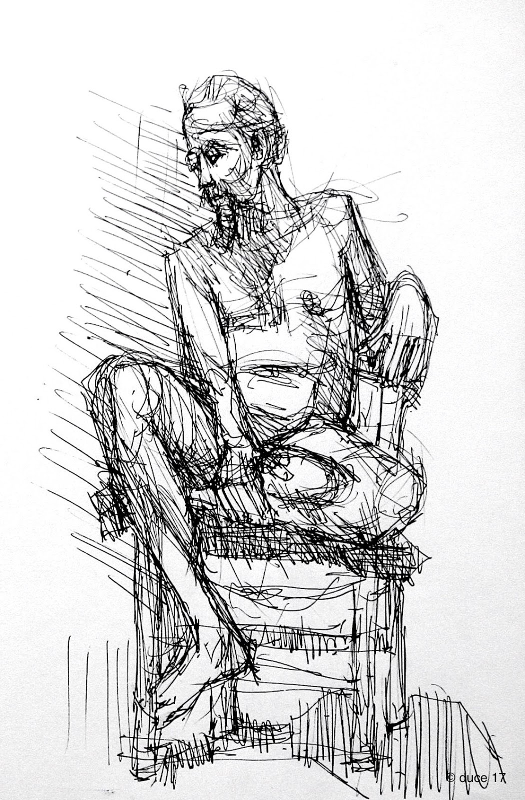 Duce: Drawings, Paintings, Words: Absorbing Silent Verdicts
