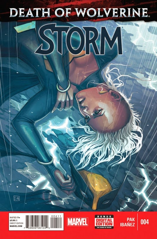 Storm mourns the death of wolverine