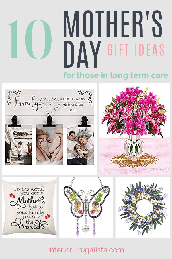A curated list of Mother's Day Gift Ideas for those living in long-term assisted living care. #mothersdaygifts #giftideasforwomen #giftideasforgrandma