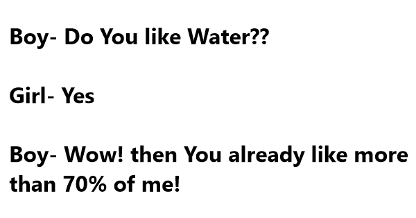water jokes one liners