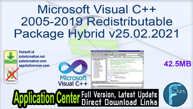 Microsoft Visual C++ 2005-2019 Redistributable Package Hybrid v25.02.2021