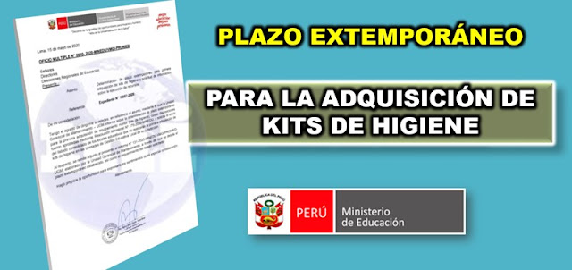 Plazo para adquisicion de kits de higiene