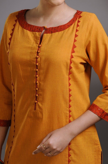44 Cute Kurta Neck Designs- kurta patterns
