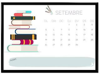 Calendari setembre horitzontal