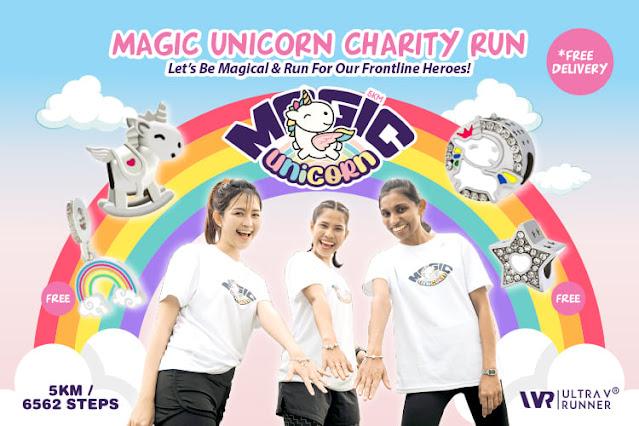 Magic Unicorn Charity Run 2021, Ultra V Runner, Magic Unicorn Run, Magic Unicorn Charm Designs, ULTRAlite Sports Tee, Running, Fun Run,  Fitness