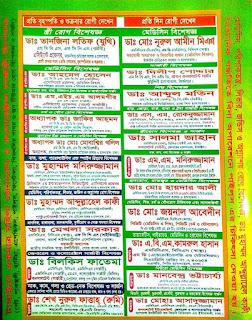 Sonia Clinic Tangail Doctor List - Sonia Nursing Home Tangail Doctor List