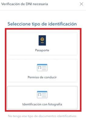 registro en coinbase validar identidad