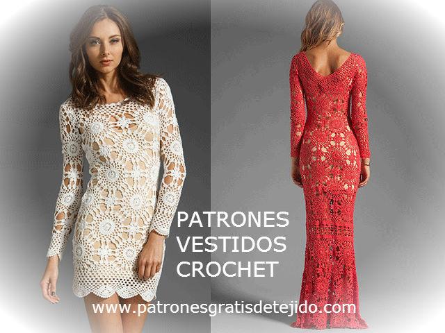 vestidos tejidos al crochet con patrón y video
