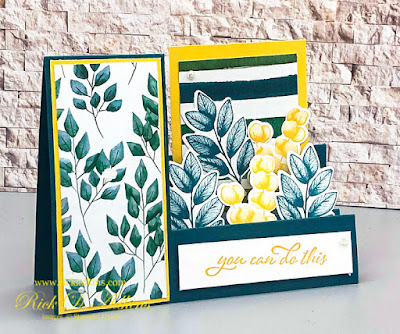 You Can Do this ! Fun Step Card using the Forever Fern Bundle from Stampin' Up!  Click to learn more!