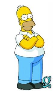Homer Simpson con Abecedario.