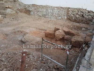 Λαμία: Ανακαλύφθηκε μέρος από το τείχος της αρχαίας πόλης