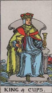 O Rei de Copas - Tarot Rider - Waite