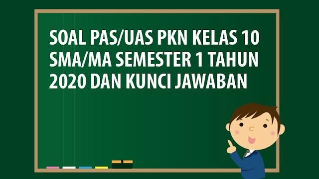 Soal PAS/UAS PKN Kelas 10 SMA/MA Semester 1 Tahun 2020