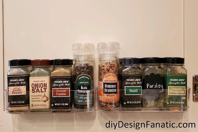 spice cabinet organization, Command caddy, organization, kitchen organization