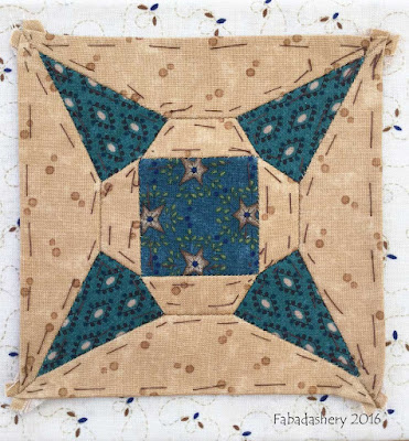 Dear Jane Quilt - Block J5 John Jacob's Windmill