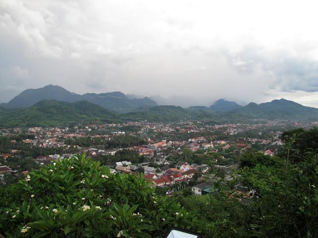 view luang prabang laos mount phou si