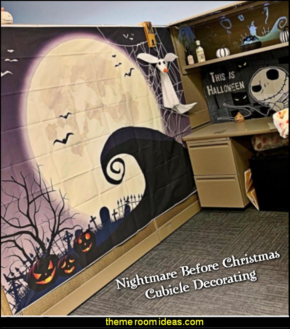 Nightmare Before Christmas Themed Party Decoration Backdrop Nightmare Before Christmas cubicle decorating
