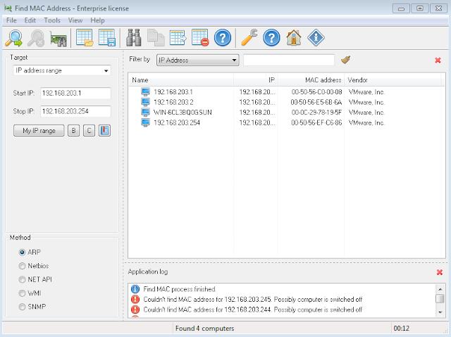 LizardSystems Find MAC Addres portable