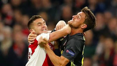 Ajax e Juventus empatam em 1 a 1 em Amsterdã pelas Quartas de final da Liga dos Campeões