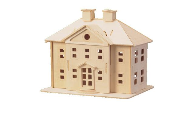 для детей, дом для кукол, конструктор из фанеры чертежи, макеты для лазерной резки, модели для лазерной резки
