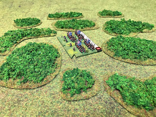 6mm figures with the 3mm woodland bases
