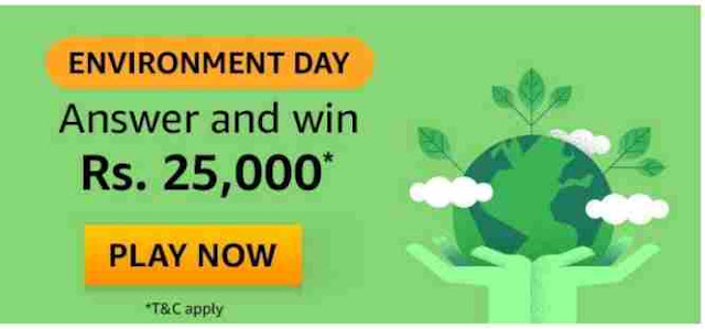 Amazon Environment Day Quiz Answers Win – Rs.25000