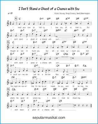 I Don't Stand a Ghost of a Chance With You chords jazz standar