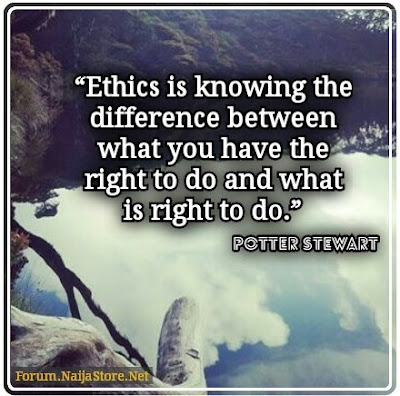 Potter Stewart: Ethics is knowing the difference between what you have the right to do and what is right to do - Quotes
