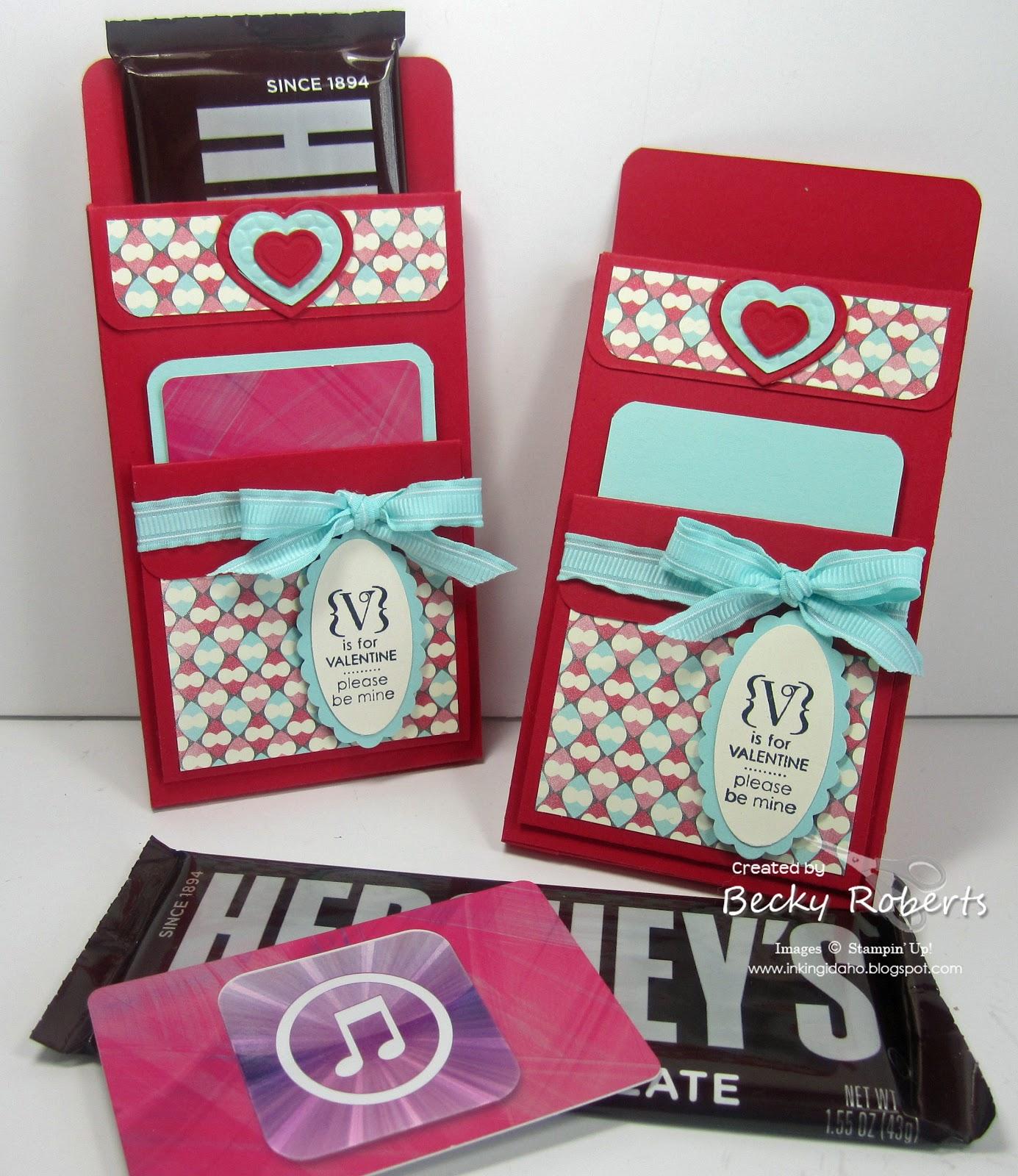 Inking Idaho: Valentine Candy Bar Holders
