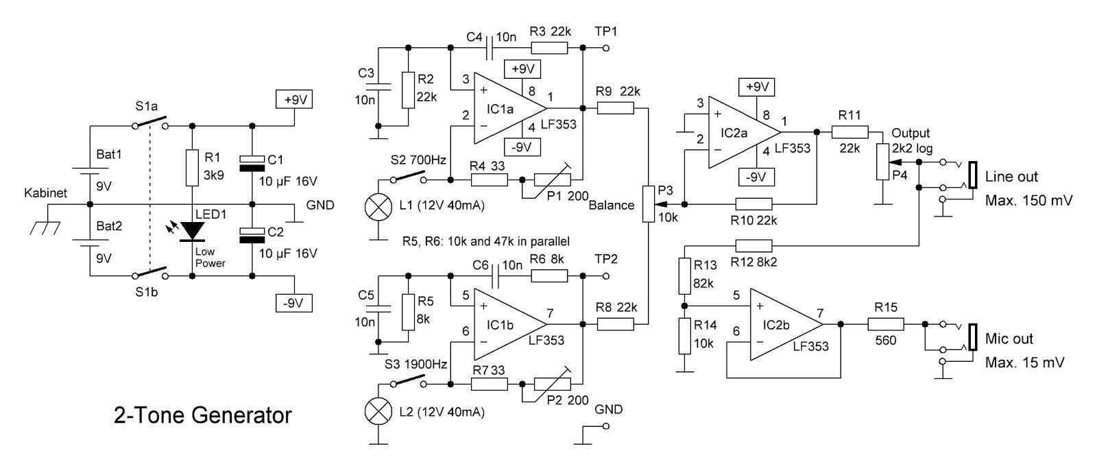 two tone generator circuit diagram  [ 1600 x 683 Pixel ]