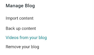 Blogger manage blog settings