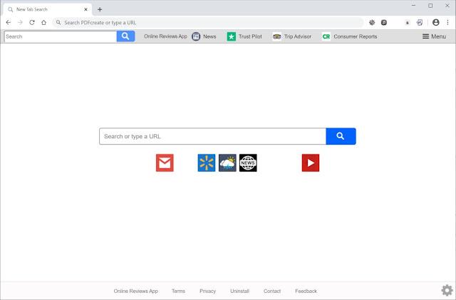 Search.onlinereviewsapptab.com (Hijacker)