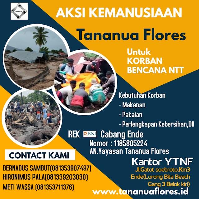 Yayasan Tananua  Flores OPEN Donasi untuk Korban Bencana NTT