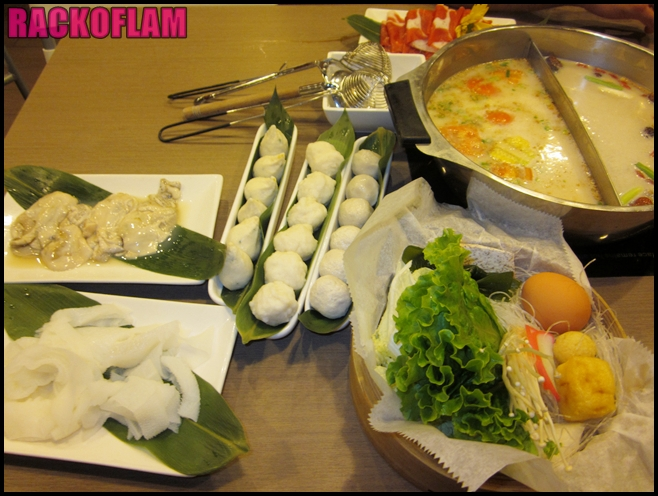 Rack of lam special du jour restaurant review mister hotpot for Fish ball with roe